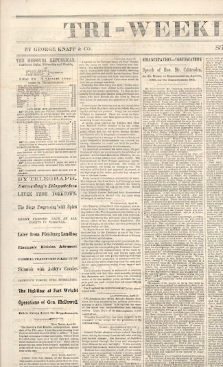 Tri Weekly Missouri Republican, April 21, 1862