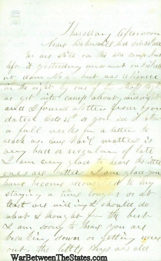 5th Maine Infantry Letter